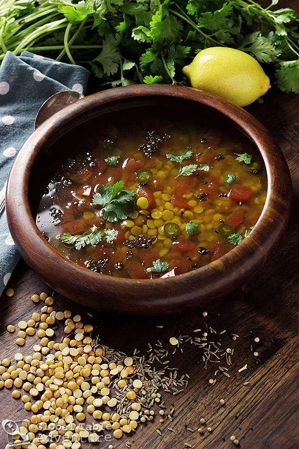 Lemon Rasam - one of Gandhi's favorite recipes