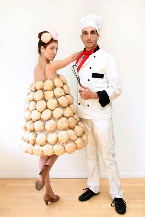 Croquembouche (16 Halloween Costumes Made from the World's Most Iconic Foods)