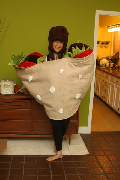 Falafel Costume (16 Halloween Costumes Made from the World's Most Iconic Foods)
