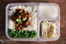 An Indian lunch for kids or work