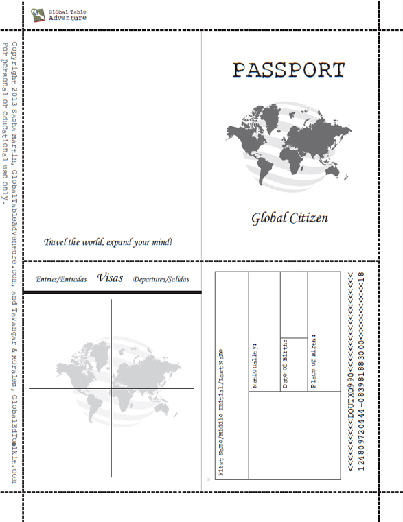 Superb image throughout printable passport for kids