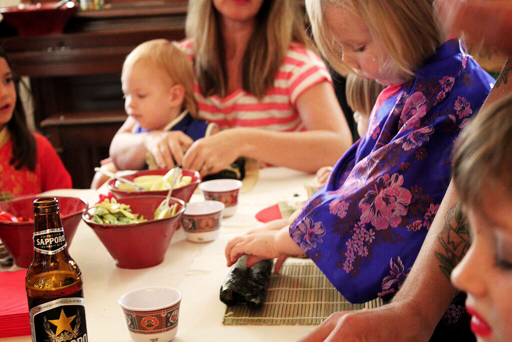 DIY Japanese Sushi-rolling Birthday Party