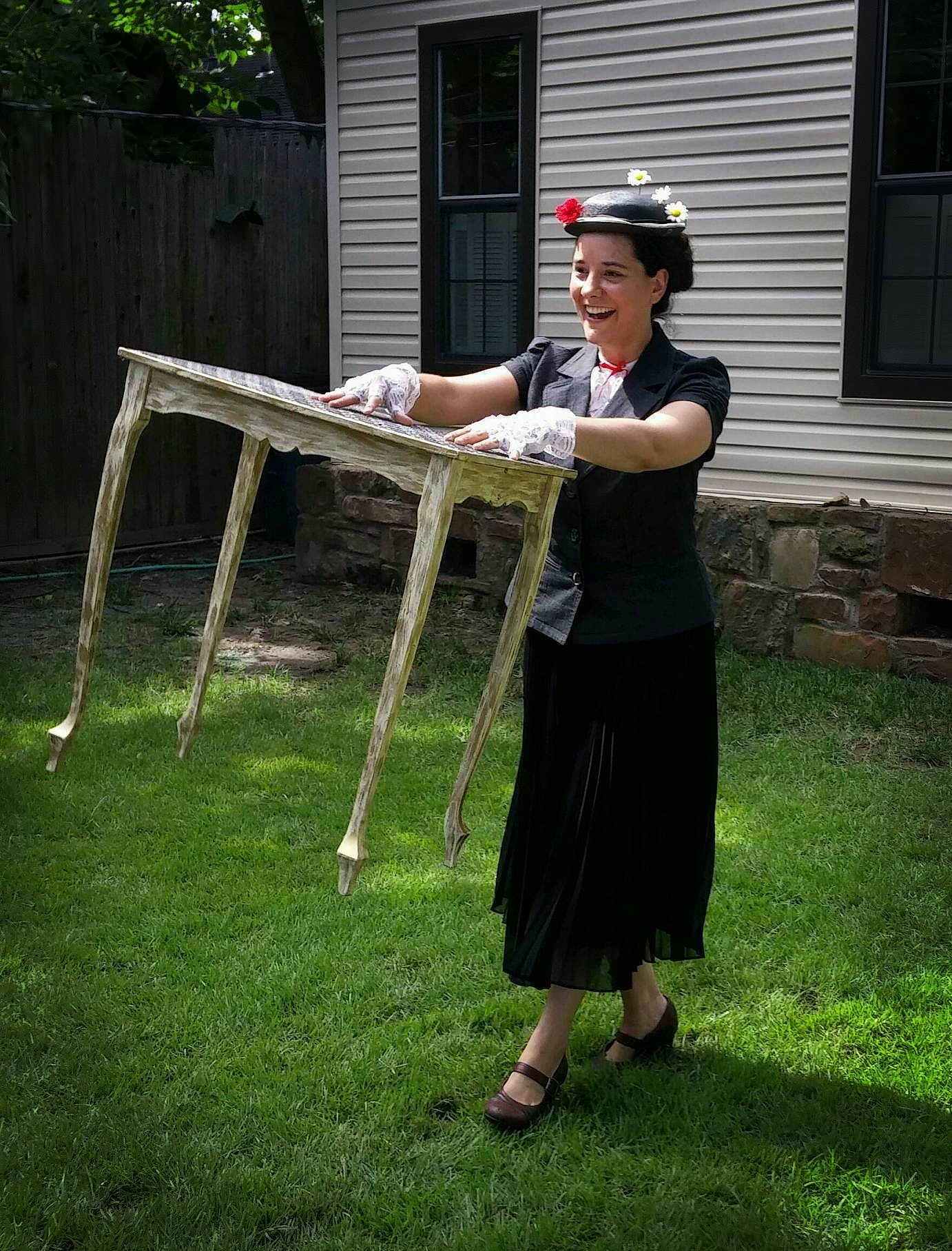 Mary Poppins Floating Table Trick