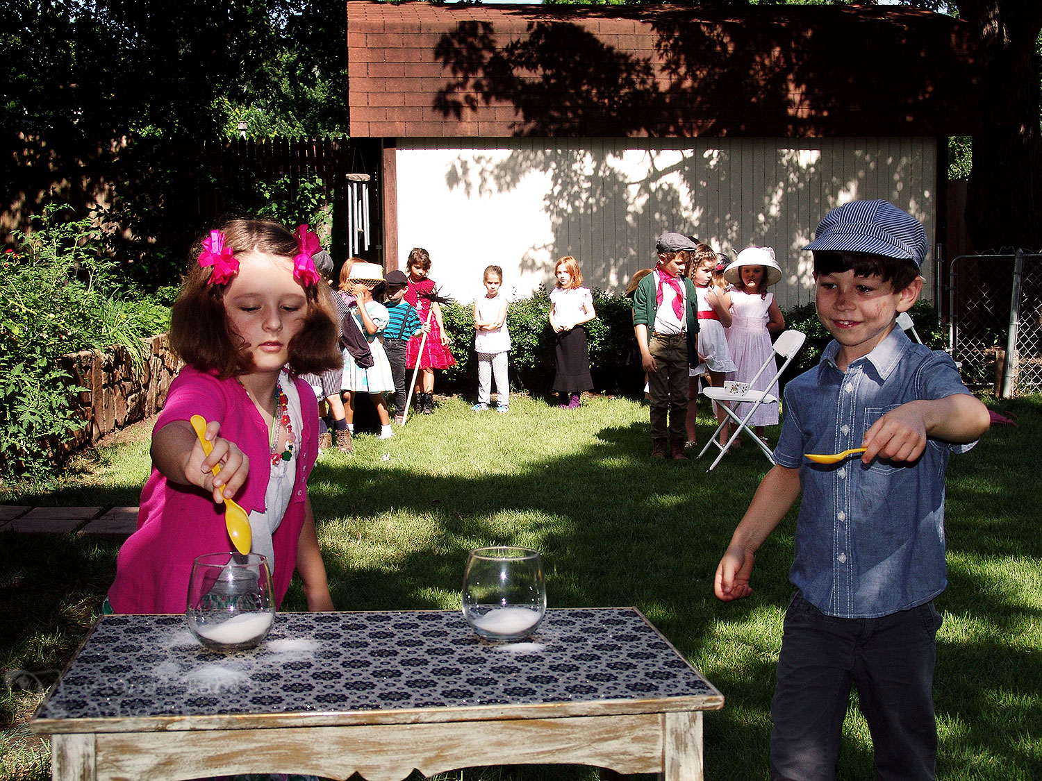 Mary Poppins Birthday Party: Spoonful of Sugar Game