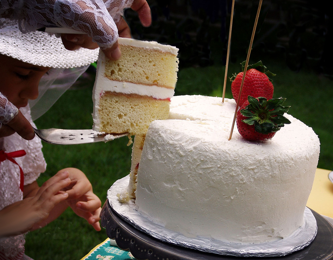 Mary Poppins Birthday Party: A slice of Victoria Sponge Cake