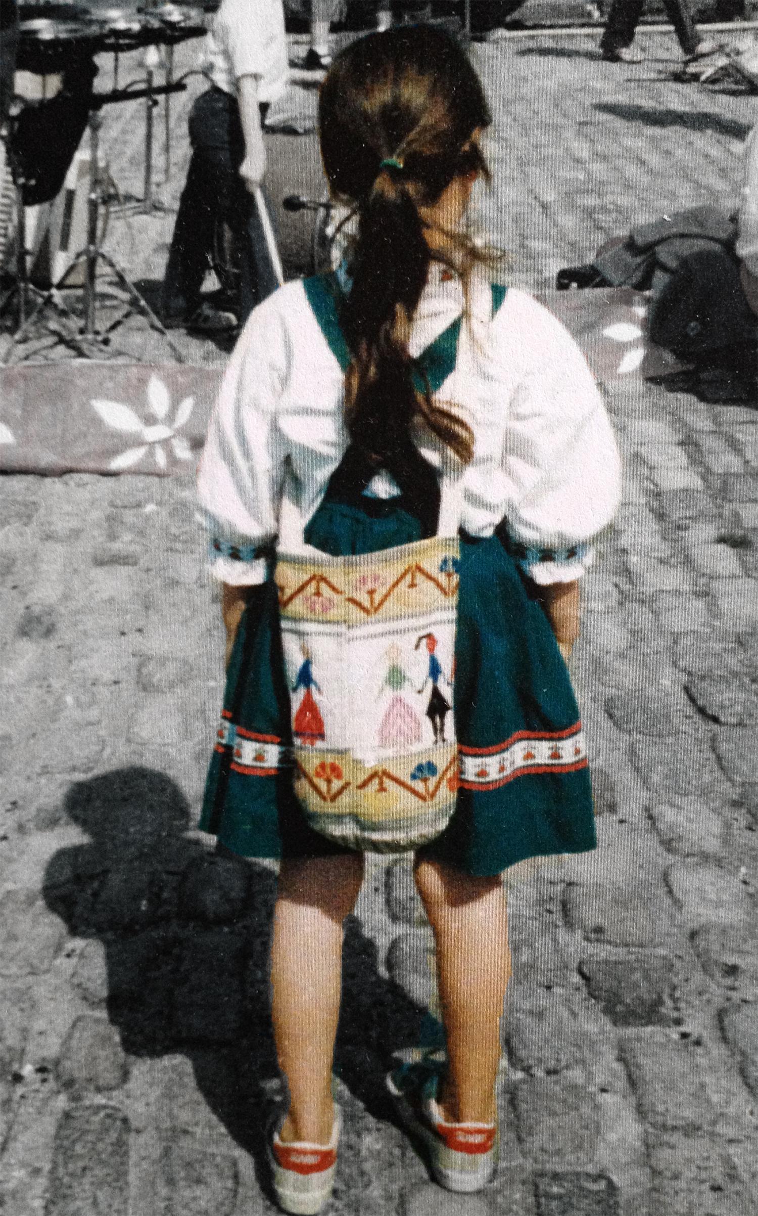 Sasha Martin as a little girl