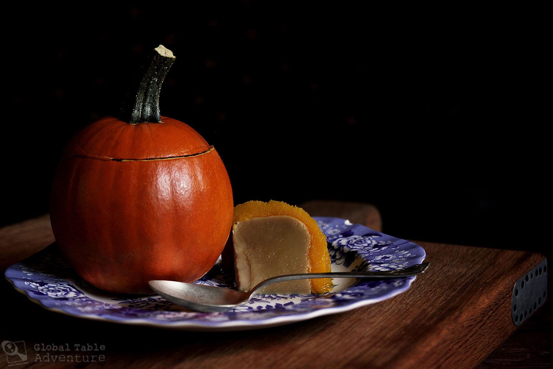 Recipe for Thai Coconut Custard steamed in a pumpkin