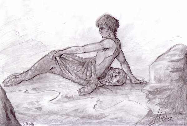A male Selkie by artist Mapvee.