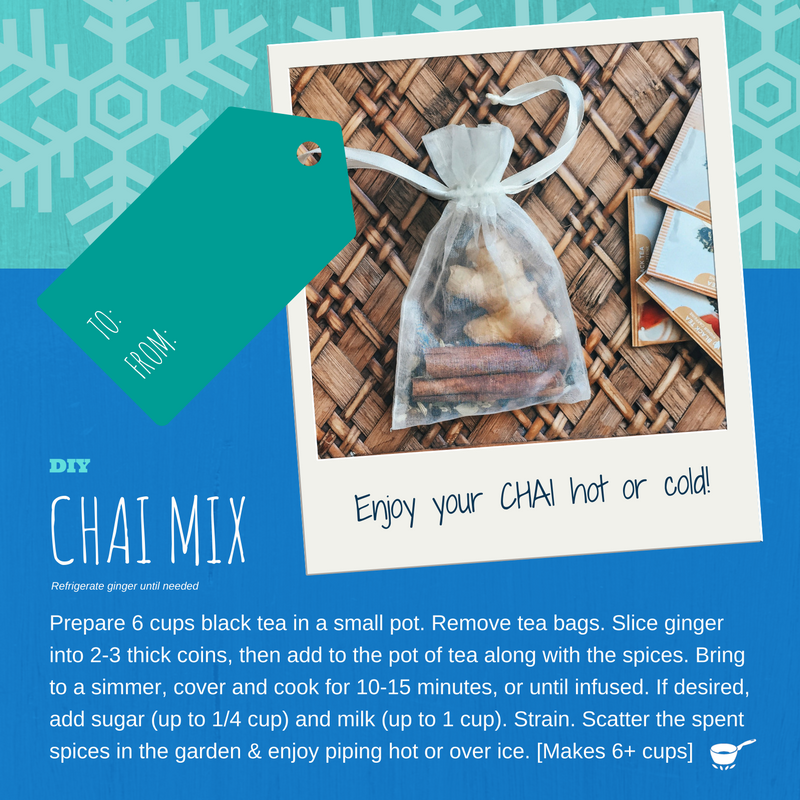 DIY Masala Chai Mix Gift Tags: Create a sweet gift using items from your spice drawer
